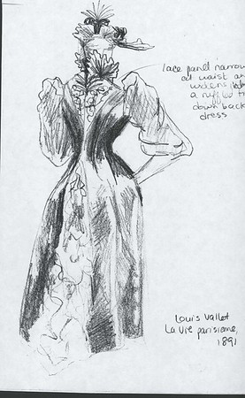 Sketch from Louis Vallet, La vie parisienne, The Victoria and Albert National Art Library