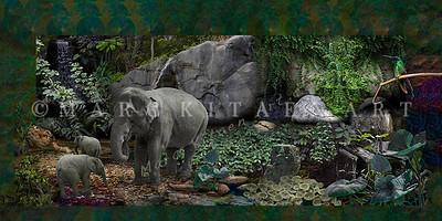 """GREEN ROOM"" / Original Digital Image"