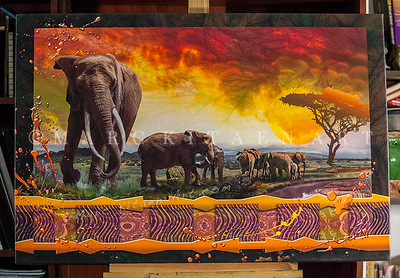 """""""THE BONDS THAT TIE"""" / Sale Price: $235.00 / Canvas Gallery Wrap 40"""" in. X 27"""" in / (#1 Limited Edition print)"""