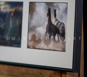 "3 HORSE'S TRYPTHICH / Sale Price: $65 / Metal Frame 9"" in. x 27"" in."