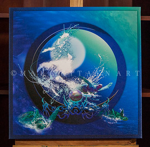 """BLUE MOON"" / Sale Price: $160.00 / Canvas Gallery Wrap 26"" in. X 26 in. / (#1 Limited Edition print)"