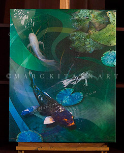 """JOY OF KOI"" / Sale Price: $205.00 / Canvas Gallery Wrap 28"" in. X 34"" in / (#1 Limited Edition print)"
