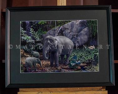 """GREEN ROOM"" / On Sale Price: $140.00 / Custom Black wood frame 26"" in. X 20"" in."