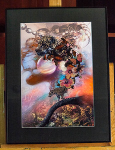 """LEOPARD OF SPLENDORA""  / Sale Price: $125.00 / Metal Frame / 18"" in. X 24"" in."