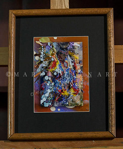 """SEVEN WOLVES"" / Sale Price: $30.00 / Oak Wood Frame / 12"" in. X 15"" in. / 1.5"" in. thick frame"