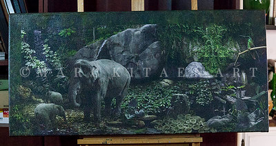"""GREEN ROOM"" / On Sale Price: $265.00 / Canvas Gallery Wrap 48"" in. X 25"" in. / (#1 Limited Edition print)"