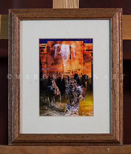 """ROLLING THUNDER"" / Sale Price: $22.00 / Oak Wood Frame / 9.5"" in. X 11.5"" in."