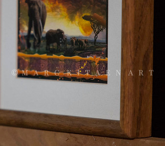 """""""THE BONDS THAT TIE"""" / Sale Price: $25.00 / Oak Frame 9 in. X 11"""" in. by 1.5"""" in. Thick"""