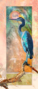 Royal Blue Heron  (pano/vertical)