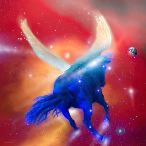 """Blue Horse Prophecy"" (square)"