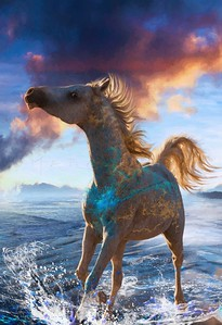 HORSE OF STELLAR ISLAND ARABIAN HORSE PORTRAIT