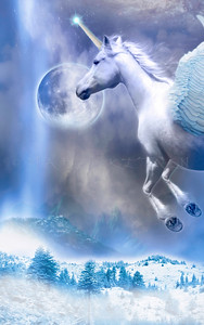 """MOON RAIN"" ARABIAN HORSE UNICORN"