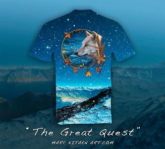THE GREAT QUEST T-SHIRT / SAMPLE (Full print t-shirt) 7-15-2019 ©Marc Kitaen
