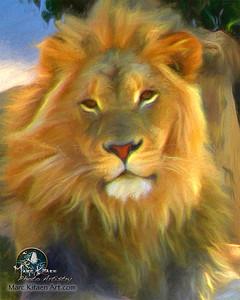 LION'S ROCKY THRONE  / Portrait