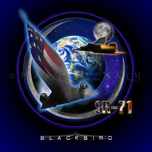 BLACKBIRD SR-71 (square art)