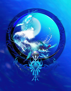 """BLUE MOON SEA TURTLE""  #2"