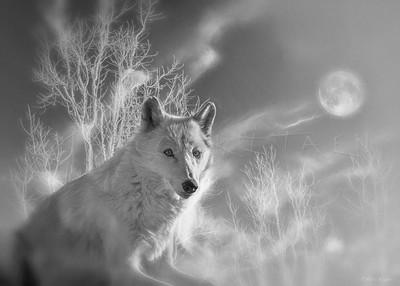 WHITE WOLF FULL MOON