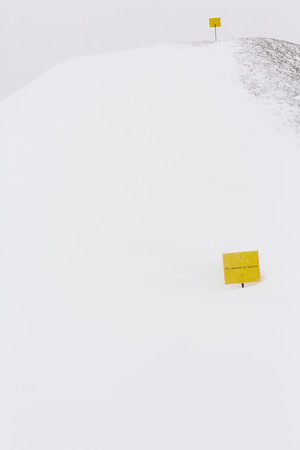 Signs on the snow
