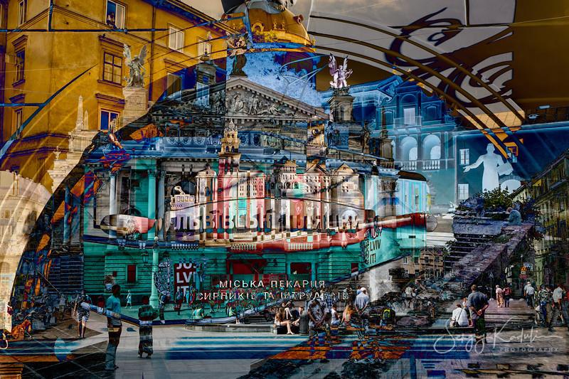 Lviv city view