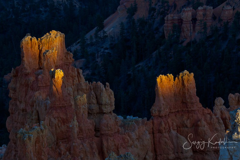 Bryce canyon, sunset