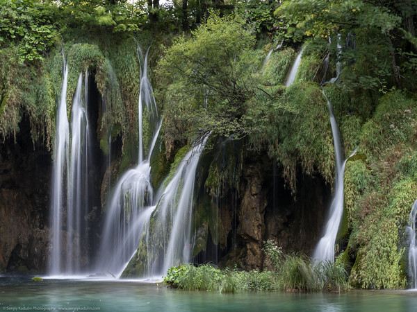 Waterfall in Plitvice Lakes National Park in Croatia