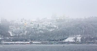 Kyiv-Pecherska Lavra in the mist
