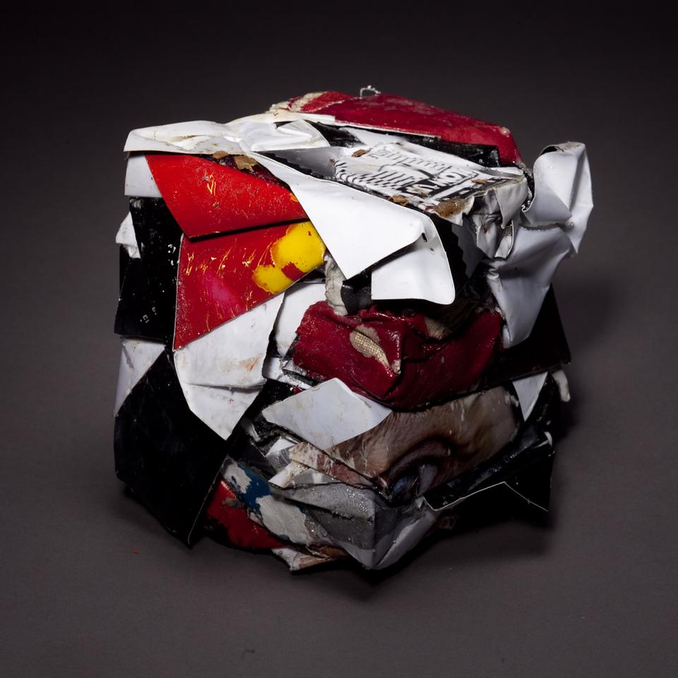 Compressed Art Cube #9
