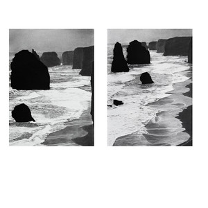 South West Coast #13 & #12 charcoal on paper 72 x52 cm SOLD