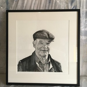 A Generous Spirit- Portrait of Frank Ryan, charcoal