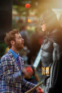 The Brooklyn Juggler and Batman at Fete Paradiso