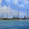 Valero oil refinery on Aruba's southern coast