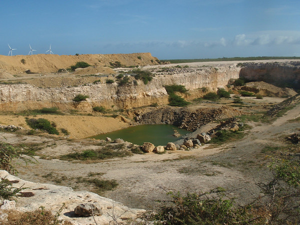 Aruba landscape with freshwater hole