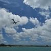 Plane above Aruba