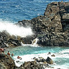 Natural pool on Aruba's coast