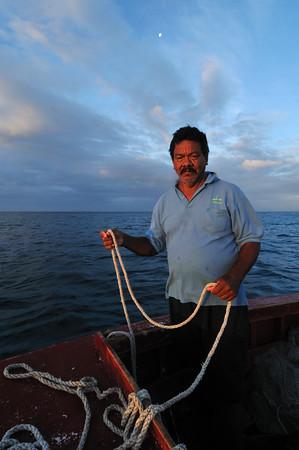 Fishermen off the coast of Aruba