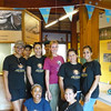The awesome Junior Ranger Education Team: Nuraisa Lispier, Rachelle Rosario, Indra Zaandam and Suzanne Hendriks