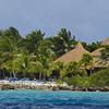 Beach tourism on Aruba's southern coast