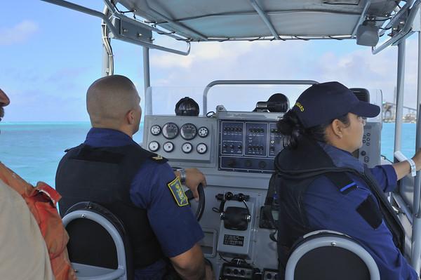 Coast Guards patrolling the area
