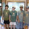 Junior Rangers Diego, Ylan, Brandon and Kaelan