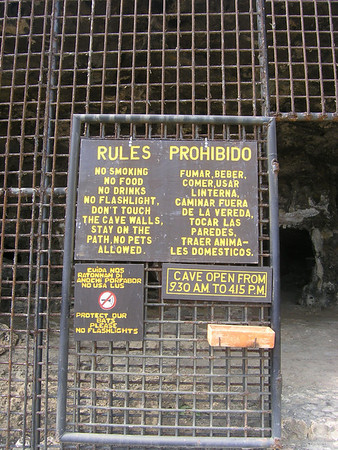 Rules to respect when visiting Aruba's caves