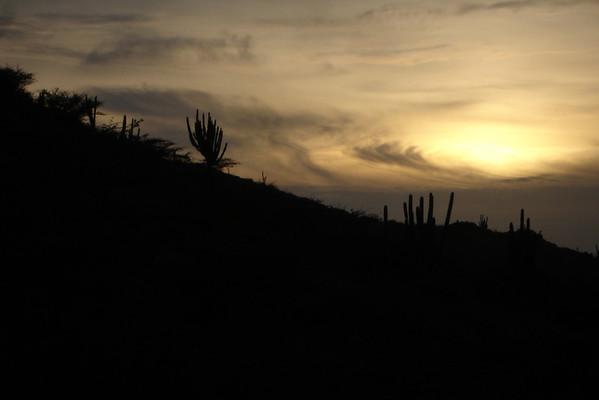 Mount Jamanota at dusk