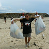 Junior Rangers cleaning up a beach. Great work!