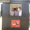 Park rangers in the information booth