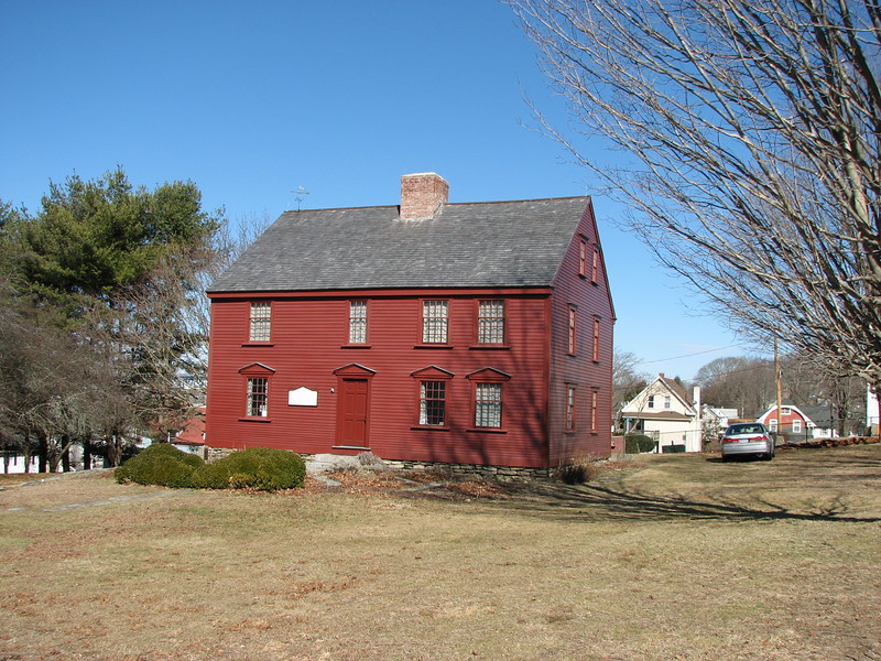 The house as seen from the grounds of Ft. Griswold State Park