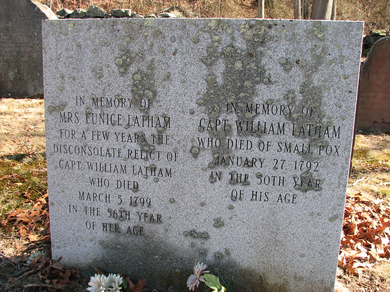 The modern replacement stone erected in front of the original stones by descendants