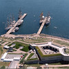 Aerial view of the site as it looks today. It is a beautiful park on the Thames, looking out to Long Island Sound. Photo is as seen on the Friends of Fort Trumbull website.