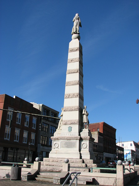 Monument in Parade Plaza that commemorates the Revolutionary, 1812 and Civil Wars.