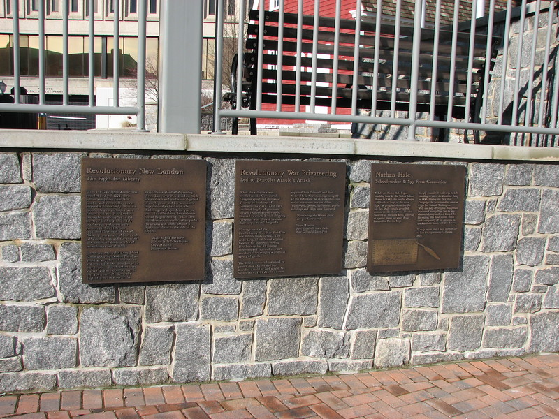 The three plaques. Arnold is mentioned on the middle one.