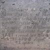 Close up of Adam Shapley's inscription