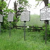 In Aldie, VA: Three of the four roadside markers have to do with Civil War happenings.